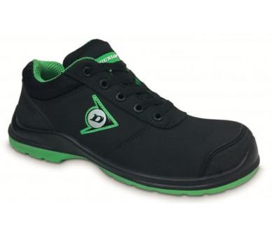 DUNLOP First One Adv Low PU-PU S3 - рабочая и защитная обувь черно-зеленая