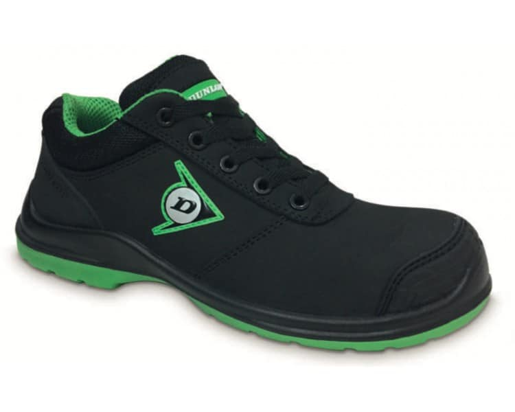 DUNLOP First One Adv Low PU-PU S3 - أحذية العمل والسلامة أسود - أخضر