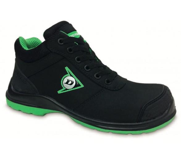 DUNLOP First One High PU-PU S3 - buty robocze i ochronne czarno-zielone