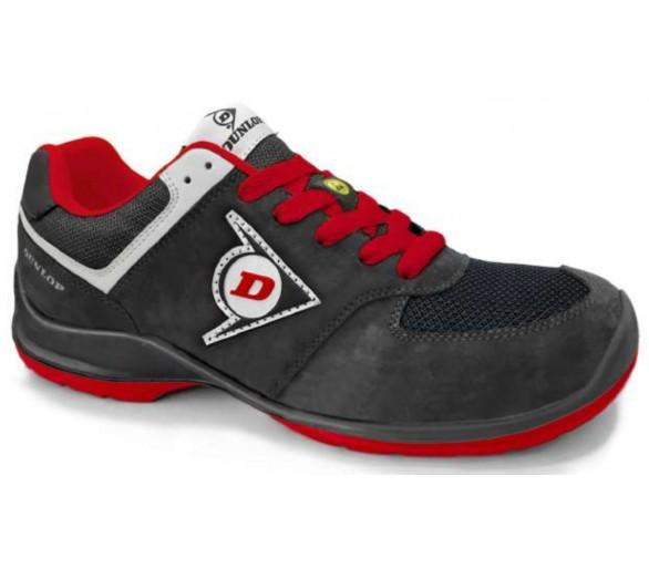DUNLOP Flying Sword PU-PU ESD S3 - أحذية العمل والسلامة الأسود والأحمر