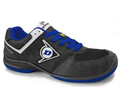 DUNLOP Flying Sword PU-PU ESD S3 - chaussures de travail et de sécurité noires et bleues