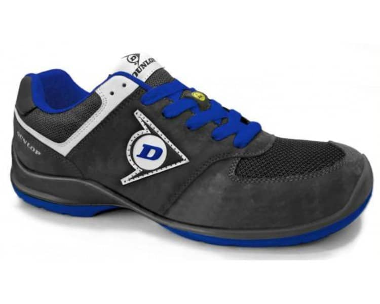DUNLOP Flying Sword PU-PU ESD S3 - black and blue work and safety shoes
