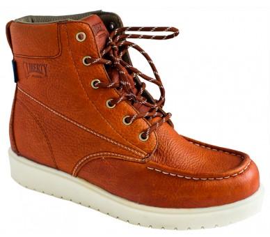 """GARY 6"""" kotníčkové topánky - červeno hnedé"""