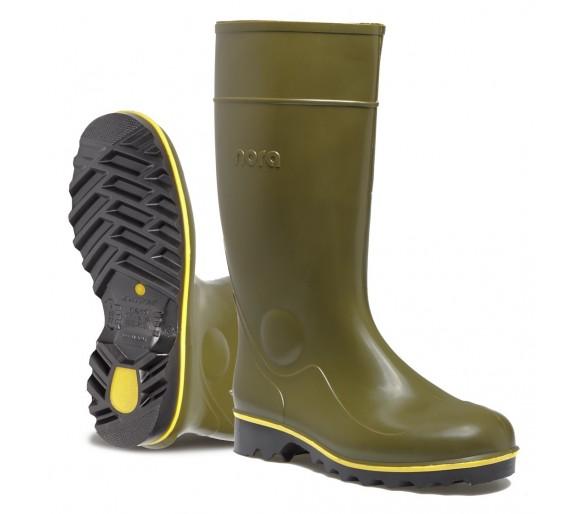 Nora JAN pracovní a bezpečnostní gumová obuv zelená