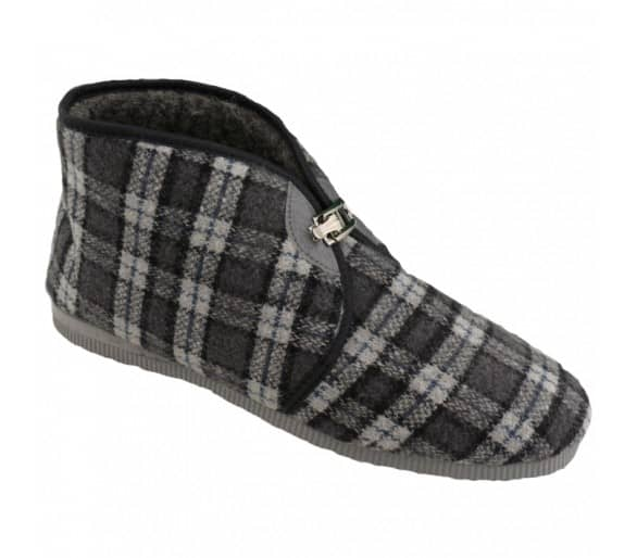 Slippers with buckle insulated men's