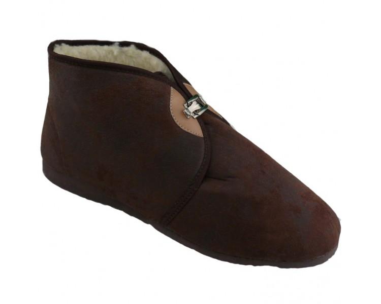 Papuče na přezku zateplené pánské