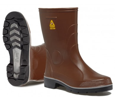 Pracovní a bezpečnostní gumové boty Rontani FARM hnědé