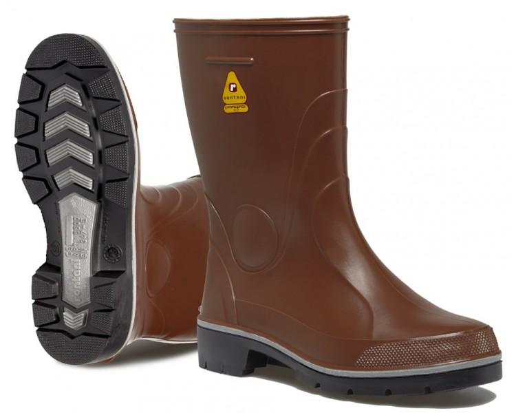 Botas de goma de trabajo y seguridad Rontani FARM marrón.