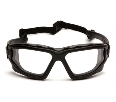 I-Force Slim ESB7010SDNT, safety goggles, non-fogging, black trim, clear