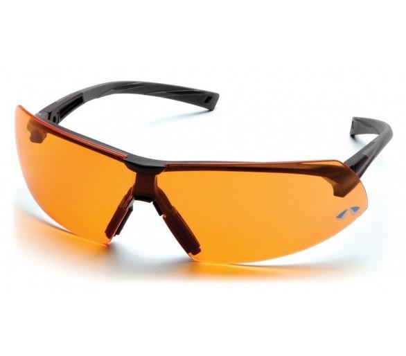 Onix ESB4940S, óculos de segurança, guarnição preta, laranja brilhante