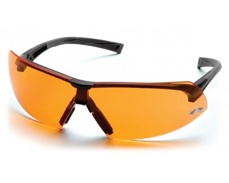 Onix ESB4940S, occhiali di sicurezza, rifiniture nere, arancione brillante