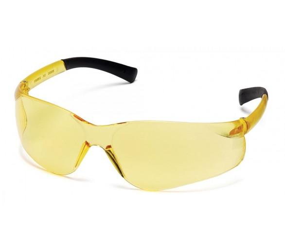 Ztek ES2530S, óculos de segurança, lado preto, amarelo brilhante