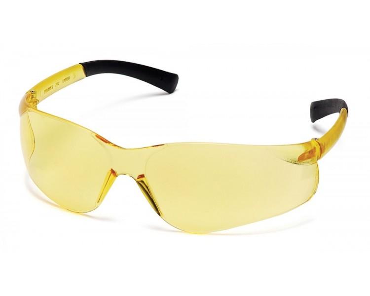 Ztek ES2530S, occhiali di sicurezza, lato nero, giallo brillante