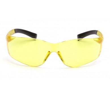 Ztek ES2530S ، نظارات السلامة ، الجانب الأسود ، أصفر مشرق