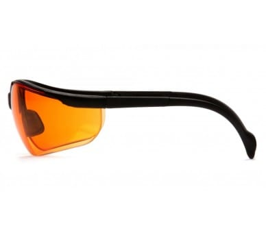 Venture II ESB1840S, ochranné okuliare, čierne obruby, jasne oranžovej