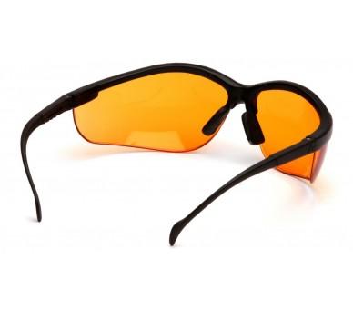 Venture II ESB1840S, gafas de seguridad, monturas negras, naranja brillante