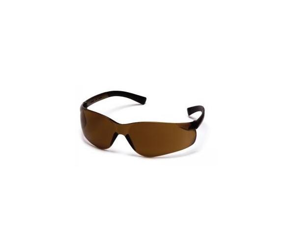 Mini Ztek ES2515SN, lunettes de sécurité, café brun