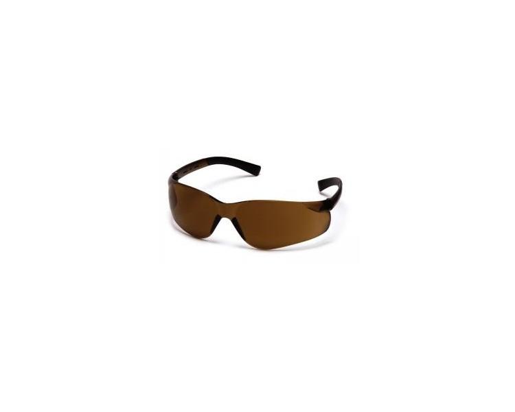 Mini Ztek ES2515SN, óculos de segurança, café marrom