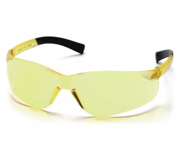 Mini Ztek ES2530SN, safety goggles, bright yellow