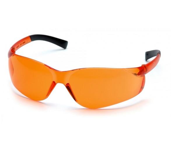 Ztek ES2540S, óculos de segurança, lado preto, laranja