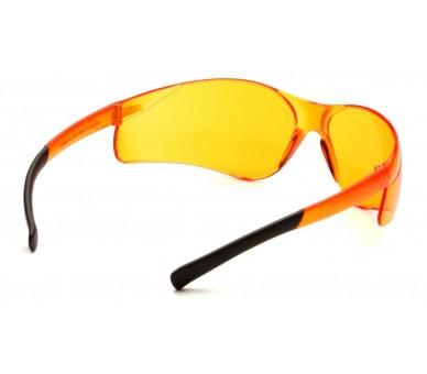 Ztek ES2540S, lunettes de protection, côté noir, orange