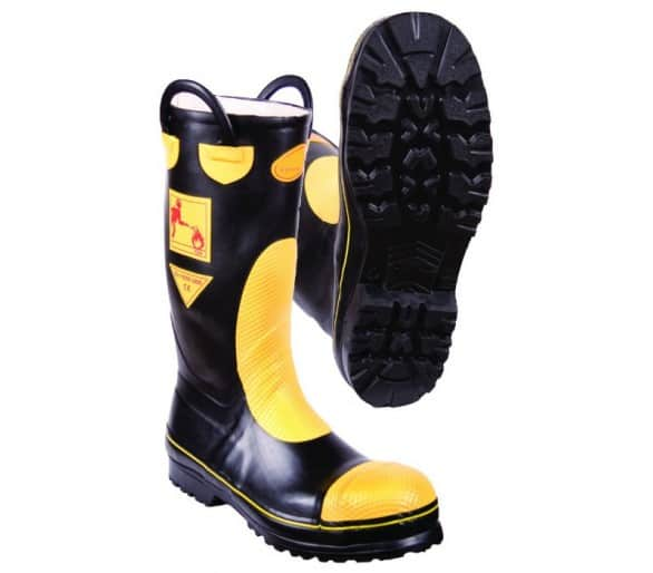 FIRESTAR F2A rubber firefighting action boots