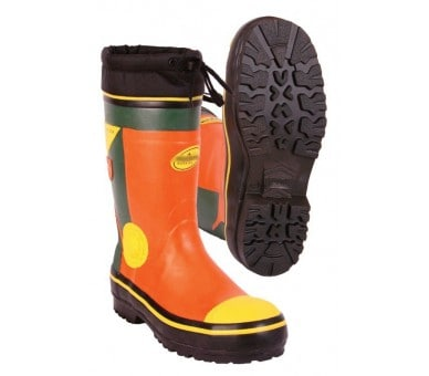 ZNR WOODCUTTER SUMMER safety rubber top logger boot