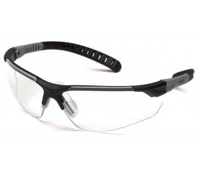 SITECORE SGL10110DTM, lunettes de protection, visière anti-buée transparente H2MAX, bordure noire