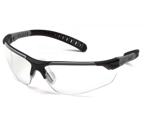 Sitecor SGL10110DTM, ochranné brýle, čirý nemlživý zorník H2MAX, černá obruba