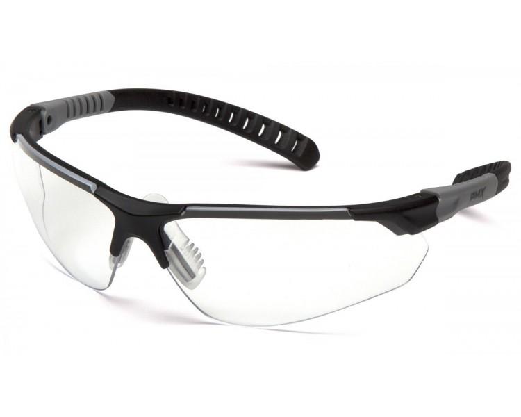 SITECORE SGL10110DTM, occhiali protettivi, visiera trasparente senza foschia H2MAX, finitura nera