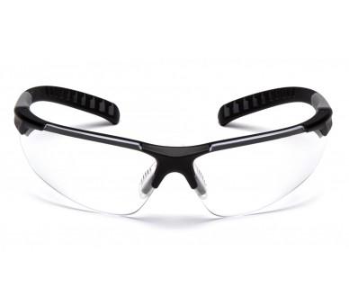 SITECORE SGL10110DTM ، نظارات واقية ، واقي شفاف خالٍ من الضباب H2MAX ، حافة سوداء